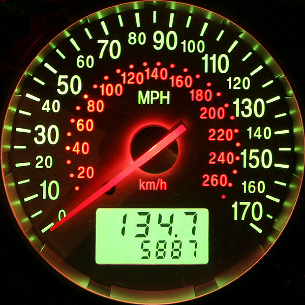 File:Ford Mondeo MK3 ST220 - Speedometer (light).jpg