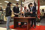 Former Secretary of Defense Gates visits Miramar for book signing 160201-M-HJ625-002.jpg