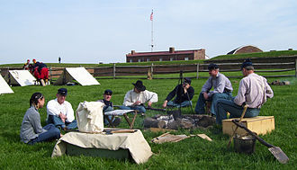 Fort McHenry - Image: Fort Mc Henry camp