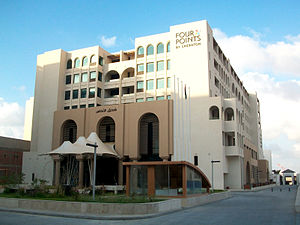 Four Points by Sheraton Tripoli - Main facade of the hotel.