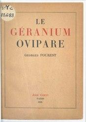 Le Géranium ovipare