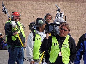Fox Sports (United States) - Fox Sports crew covering a NASCAR race.