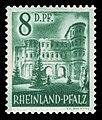 Fr. Zone Rheinland-Pfalz 1948 18 Porta Nigra, Trier.jpg