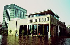 Frankfurt Oder, Germany, 1997 Sparkasse building in the Oder flood.jpg