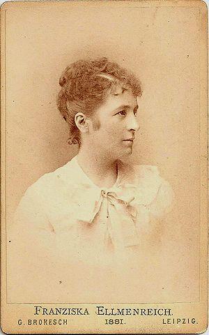 Schwerin - Franziska Ellmenreich in 1881