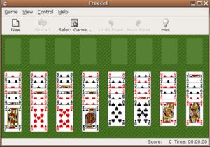captura de pantalla de un juego de carta blanca