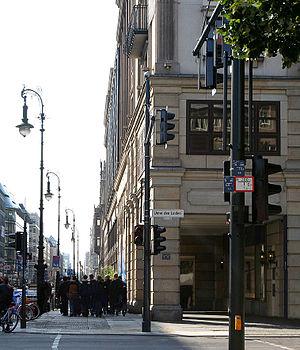 Friedrichstraße - View into Friedrichstraße from Unter den Linden