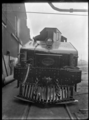 Front view of the tender for C class 2-6-2 steam locomotive, New Zealand Railways no 851, under construction at Hutt Railway Workshops, Woburn. ATLIB 290098.png