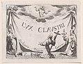 Frontispiece, from Lux Claustri ou La Lumière du Cloitre (The Light of the Cloisters) Met DP890725.jpg