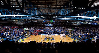 Frost Arena - Frost Arena during a South Dakota State basketball game against their in state rival, the University of South Dakota.