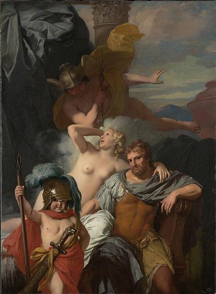 File:Gérard de Lairesse - Mercurius gelast Calypso om Odysseus te laten vertrekken.jpg