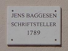 Göttinger Gedenktafel für Jens Baggesen (Quelle: Wikimedia)
