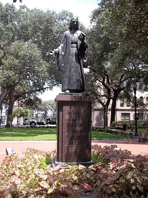 United Methodist Church - Statue of John Wesley in Savannah, Georgia, where he served as a missionary.