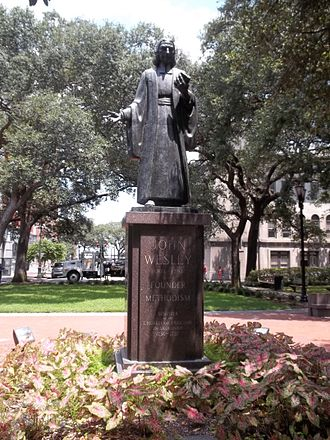 United Methodist Church - Statue of John Wesley in Savannah, Georgia, where he served as a missionary