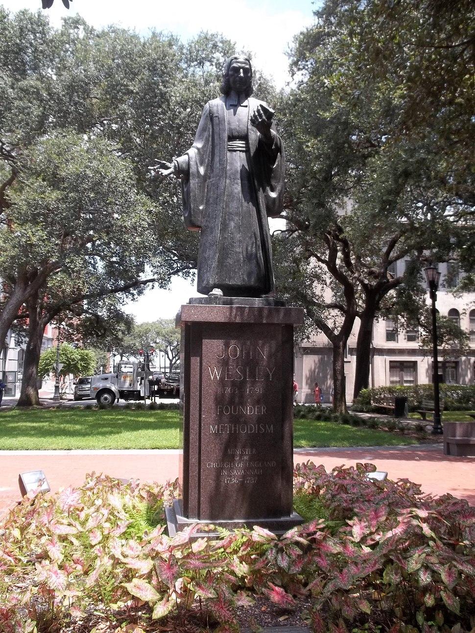 GA Savannah HD Wesley statue01