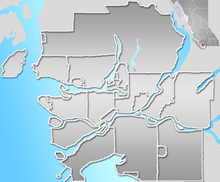CYVR is located in Vancouver