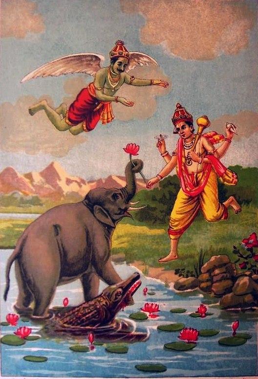Gajendra Moksha print