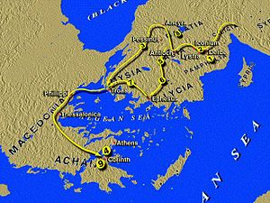 English: Map of the Letters of Galatia