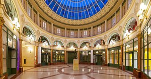 "2nd arrondissement of Paris - Rotunda of the Galerie Colbert, built in 1826 as a rival to the next and then very popular ""Galerie Vivienne"" covered passageway"