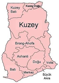 Gana nın bölgeleri