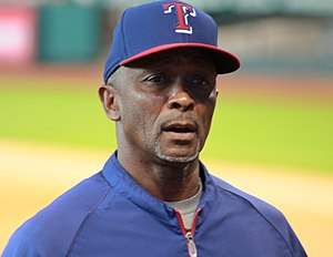 Gary Pettis - Pettis with the Texas Rangers in 2014