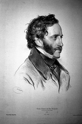 Friedrich Gauermann - Friedrich Gauermann, Lithograph by Josef Kriehuber