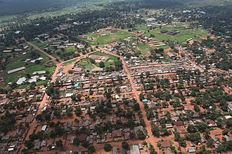 Gbadolite - Aerial view of the town