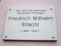 Gedenktafel Friedrich Ritschl Erfurt.JPG