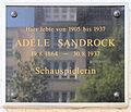 Gedenktafel Leibnizstr 60 (Charl) Adele Sandrock 2.jpg
