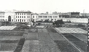 Heiligenstadt, Vienna - A view of the railway station in Heiligenstadt from the Karl-Marx-Hof
