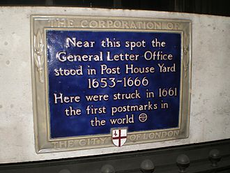 Postmaster General of the United Kingdom - The former site of the General Letter Office in London