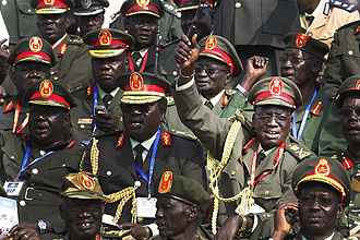 History of South Sudan - South Sudanese army generals at independence festivities