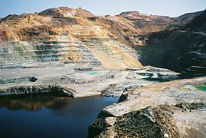 Cyprus - A copper mine in Cyprus. In antiquity, Cyprus was a major source of copper.