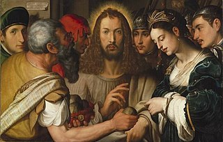 Christ and the woman in adultery