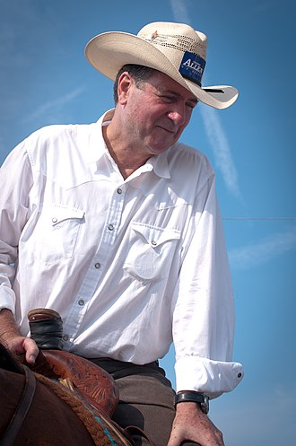 George Allen (American politician) - Allen campaigning at the July 4, 2011 parade in Crozet, Virginia