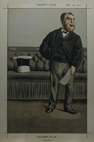 "George Cavendish-Bentinck - ""Little Ben"" as caricatured by James Tissot in Vanity Fair, December 1871"