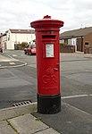George V post box, Gladstone Road, Garston.jpg