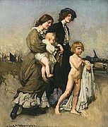 George Washington Lambert - The Bathers, 1907.jpg