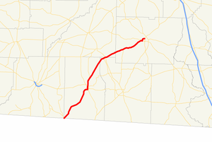 Georgia State Route 111 - Image: Georgia state route 111 map