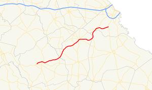 Georgia State Route 88 - Image: Georgia state route 88 map