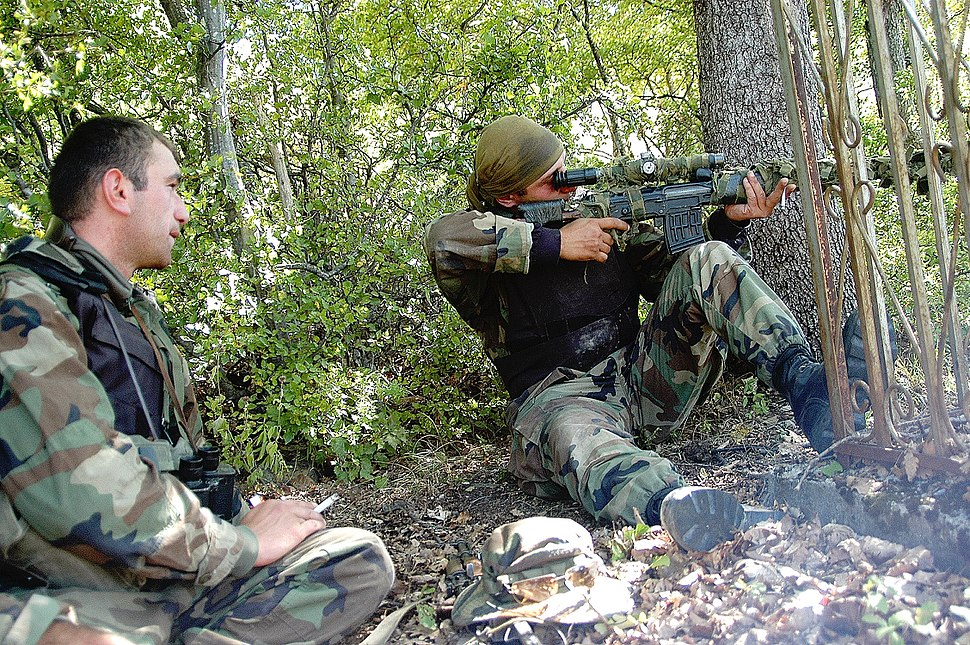 Georgian sniper during South Ossetia war
