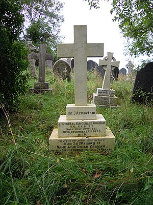 Gerald Graham - The grave of Gerald Graham VC in 2017. Behind it is the grave of George Channer VC