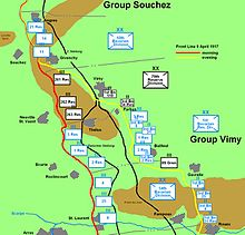 Map Of France Vimy.Battle Of Vimy Ridge Wikipedia