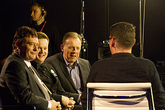 Jimmy White - Neal Foulds and Jimmy White in an interview with Shaun Murphy after his victory against Mark Allen at the 2015 German Masters