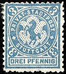 Germany Stuttgart 1890-99 local stamp 3pf - 14a unused.jpg