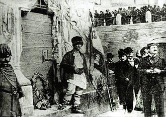 Badea Cârțan - Badea Cârțan at Rome, at the base of Trajan Column.