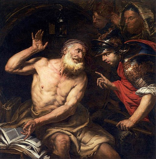 Giambattista Langetti - Diogenes and Alexander