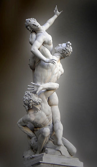 Giambologna - The Rape of the Sabine Women (1574–82), Florence. The title was only assigned after completion.
