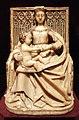 Gil de Siloé, madonna in trono col bambino, in alabastro, burgos 1480-90 ca.jpg