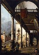 Giovanni Antonio Canal, il Canaletto - Perspective View with Portico - WGA03965